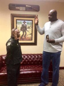 Shaq sworn in as Clayton County Sheriff's Deputy
