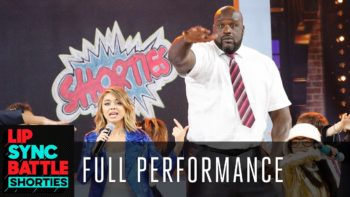 """Shaq, Sarah Hyland, and the Lip Sync Battle Shorties perform """"ABC"""" by The Jackson 5"""