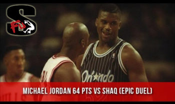 Shaq First Game in Chicago vs Michael Jordan