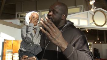 Shaq surprises dog attack victim